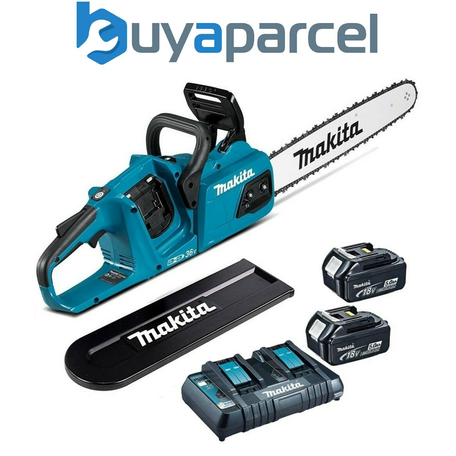 Makita DUC405PT2 Twin 18v 36v LXT Li-Ion Cordless Brushless Chainsaw 40cm 2x5ah