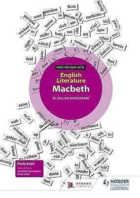 WJEC Eduqas GCSE English Literature Set Text Teacher Pack: Macbeth by Adair, Pau