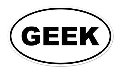 "Geek Oval car window bumper sticker decal 5/"" x 3/"""
