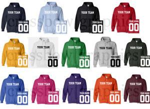 CUSTOM-Hooded-Sweatshirt-Personalized-ANY-COLOR-Name-Number-Team-HOODIE-Football