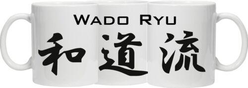 PRINTED AROUND THE MUG characters WADO RYU MUG Wado Ryu in Japanese Kanji