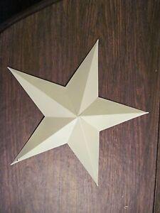 "12"" Almond Barn Star Metal Primitive"