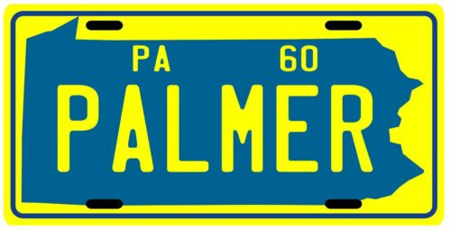 Arnold Palmer 1960 Masters & U.S. Open Champion Pennsylvania Metal License plate