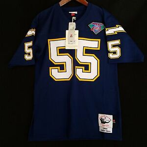 b45150668 100% Authentic Junior Seau 1994 San Diego Chargers Mitchell Ness NFL ...