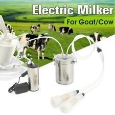 2l Portable Electric Milking Machine Vacuum Pump For Farm Cow Sheep Goat Milker