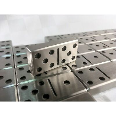 Double Six Set of Stainless Steel Dominoes