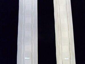 1 mètre de ruflette galon tubulaire rideaux 2 cm de large