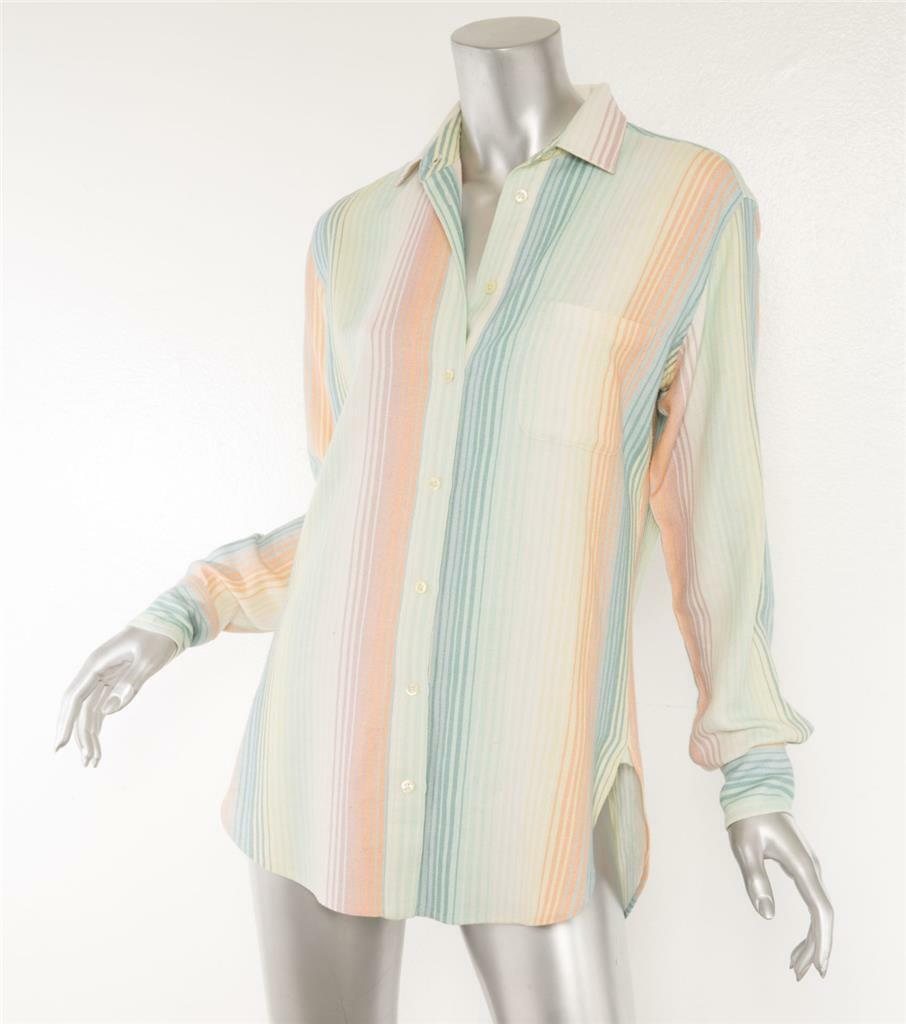 SIES MARJAN damen Multi-Farbe Pastel Soft Washed Striped Button-Up Shirt 2