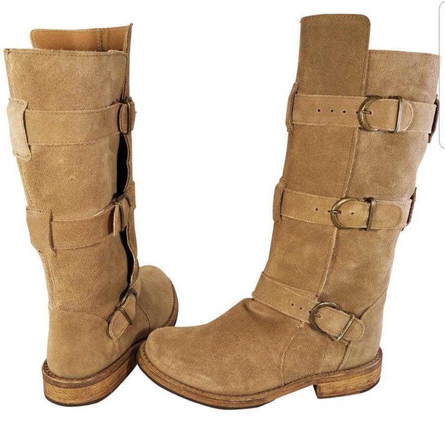 Steve Madden Buck Baker Baker Baker Freebird Correas Beige botas De Gamuza Mujer Triple 6.5 Como Nuevo  ventas en linea