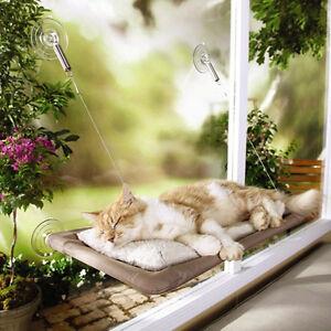 50lb Cat Basking Window Hammock Perch Cushion Bed Hanging Shelf Seat Mounted