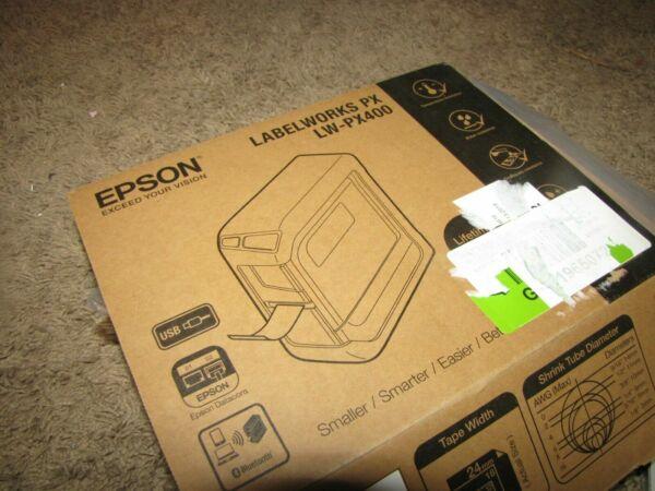 original vhbw® Label Tape 12mm WEIß-SCHWARZ für EPSON LabelWorks LW-300