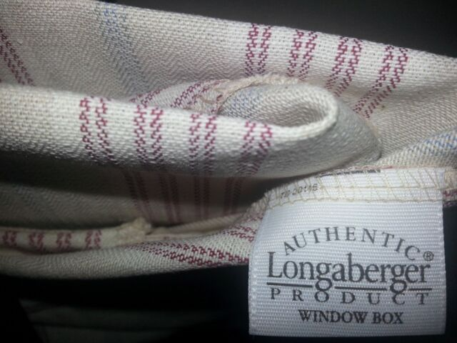 Longaberger fabric basket liners, FOUR (4) Assorted sizes and patterns