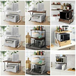 2 Tier Microwave Shelf Stand Microwave Rack Printer Holder Corner Kitchen Shelf Ebay