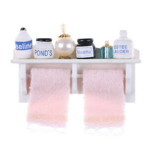 1-12-Dollhouse-Miniature-Bathroom-Set-Towel-Rack-Makeup-Cosmetic-SWGSFHWCPT