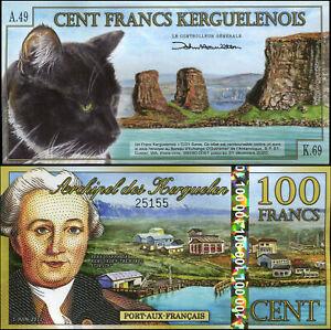 Îles Kerguelen 100 Francs. Polymère NEUF 01.06.2012 Billet de banque Cat# P.NL