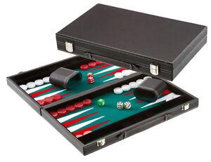 Extra Large Backgammon Tournament Set Green 22.5    sans pli parties P & P du Royaume-Uni  x18.5