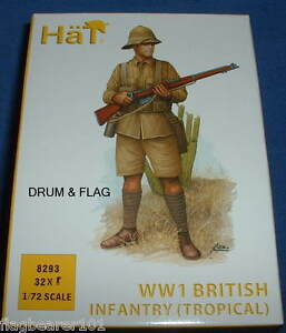 HAT-8293-WW1-BRITISH-INFANTRY-TROPICAL-UNIFORM-1-72-SCALE-PLASTIC