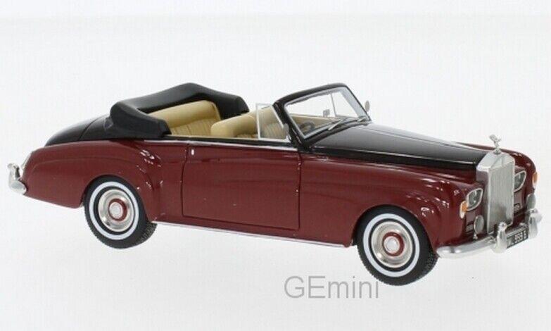 Neo 47340 - Rolls Royce Argento Cloud III Cabrio Rosso - 1964 1/43