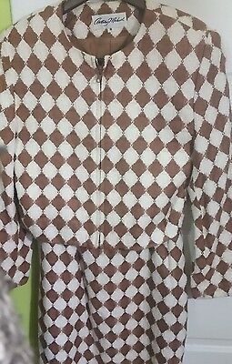 STUNNING Womens Vintage Argyle Suit Size 6 Small Made in USA Skirt Jacket Blazer