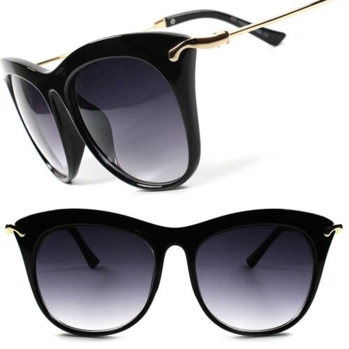 Designer Gorgeous Elegant Oversized Vintage Style Women/'s Cat Eye Sunglasses F80
