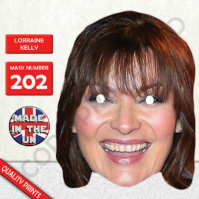 Lorraine Kelly Celebrity Card Mask All Our Masks Are Pre-Cut!***