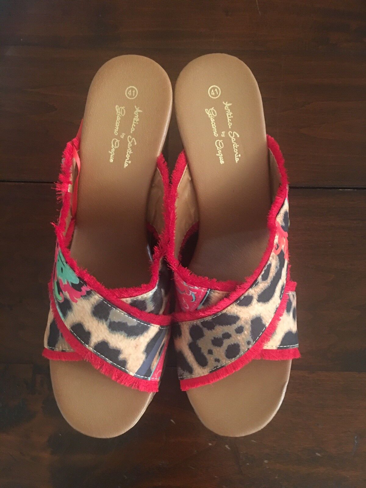 Antica Sartoria Wedge Slide Sandals NWT  ️