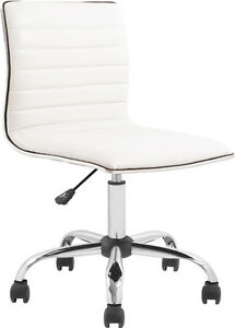 Image Is Loading Mid Back Armless White Ribbed Designer Task Chair