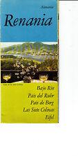 Renania Alemania Germany 1960s Vintage Brochure Text in Spanish Rhineland
