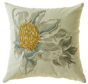 45cm-45cm-FLOWER-QUALITY-LINEN-CUSHION-COVER-PILLOW-CASE