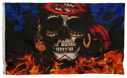 3x5 3/'x5/' The Flag Joint Pieces of Eight Skull Pirate Flag Banner 100/% Polyester