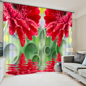 3D rojo Flower 1 Blockout Photo Curtain Printing Curtains Drapes Fabric Window CA