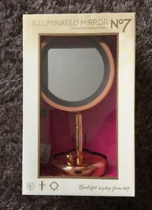 No7 Rose Gold Illuminated Mirror 2017 Version Limited
