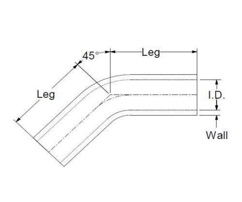 ROT 45 Grad Silikonbogen 45° ID 76mm Silikonschlauch Bogen LLK Turbo Schlauch