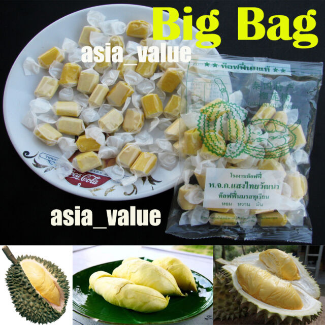Amazing Candy Durian Toffee Thai Fruit ( Big Bag 110g.) Durian Monthong Thailand