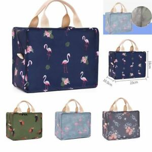 Children-Kids-Flamingo-Lunch-Bags-Insulated-Cool-Bag-Picnic-Bags-School-Lunchbox