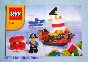 INSTRUCTION BOOK ONLY No Lego bricks Lego System 6192 Pirate Building Set