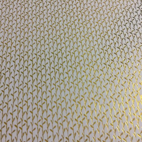 Dolls House Wallpaper 1:12 x2 Leaf GOLD FOIL Black White Twigs Bamboo Paper 1:24