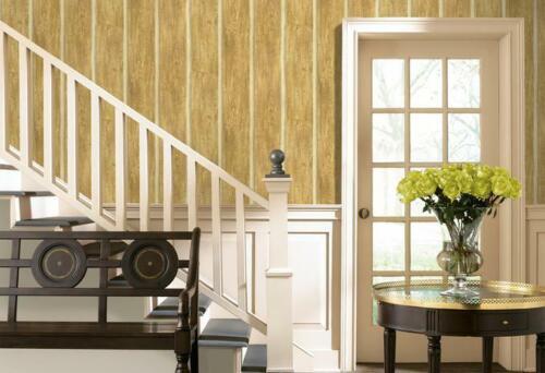 Chinking Maple Wood Panel Easy Walls Rustic Log Lodge Wallpaper TLL51015