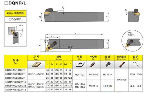 MDQNR1616H11 Turning Machining Cutter External Boring Cutting Toolholder