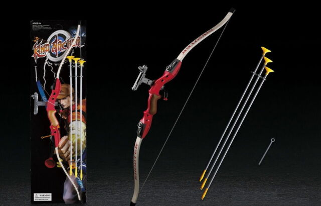 King Archery Bow and Arrow Set with 3 Suction Cup Arrows for Kids//Children Toy