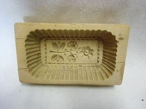 Sinnvoll Altes Holz Buttermodel Mit Geschnitztem Blumenmotiv Top, Um 1910