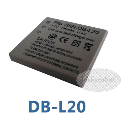 Db-l20 Dbl20 3.7 v 750mah batería Para Sanyo Cámara Xacti Vpc-e6 Vpc-c4 Vpc-c1