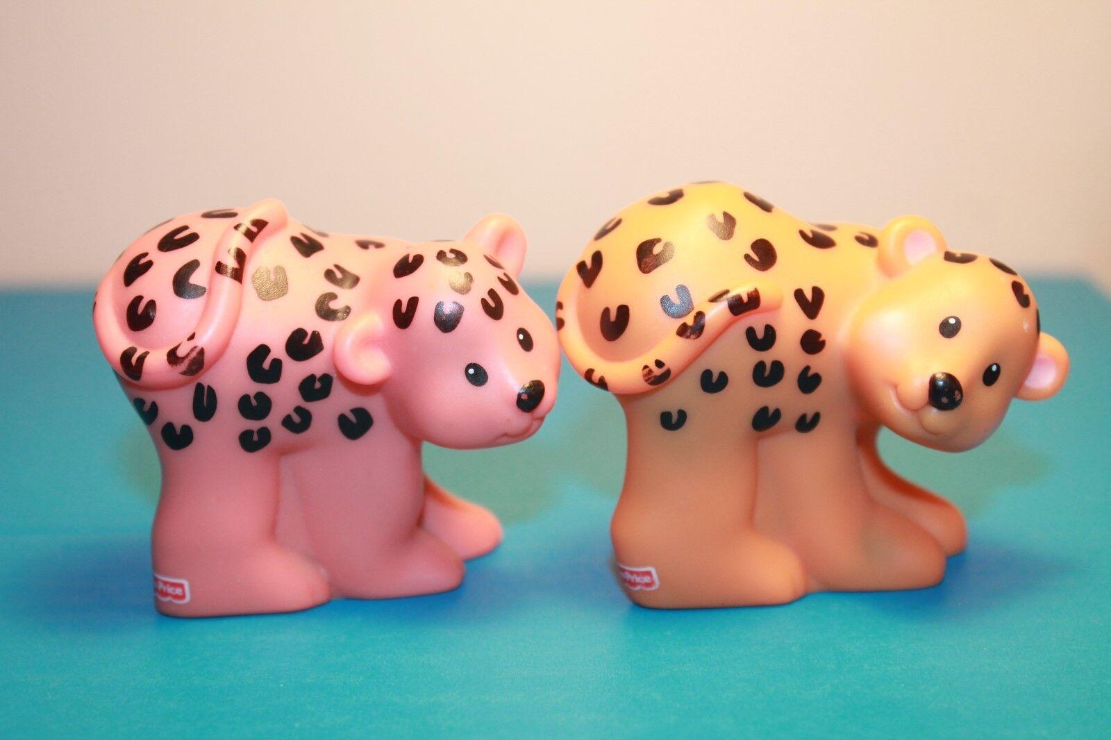 Little People Fisher Price Mattel Noah's Ark Leopard Cheetah Toy Figures Pretend