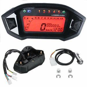 Universel-LCD-Numerique-Retroeclairage-Moto-Odometre-Compteur-Compte-Tours-Jauge