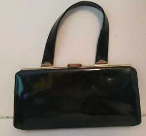 Vintage-lederes-bag-exclusivley-for-Russell-amp-Bromley-50-039-s-60-039-s-era-Authentic