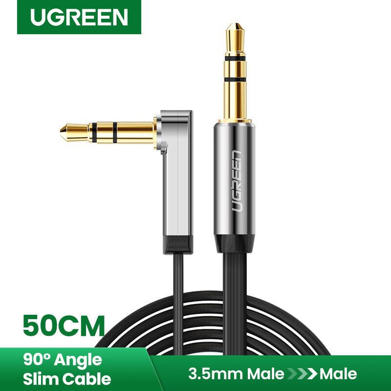 90 Grad rechtwinklig 3,5 mm Klinkenstecker auf Stereo-Audiokabel für Auto U/_M
