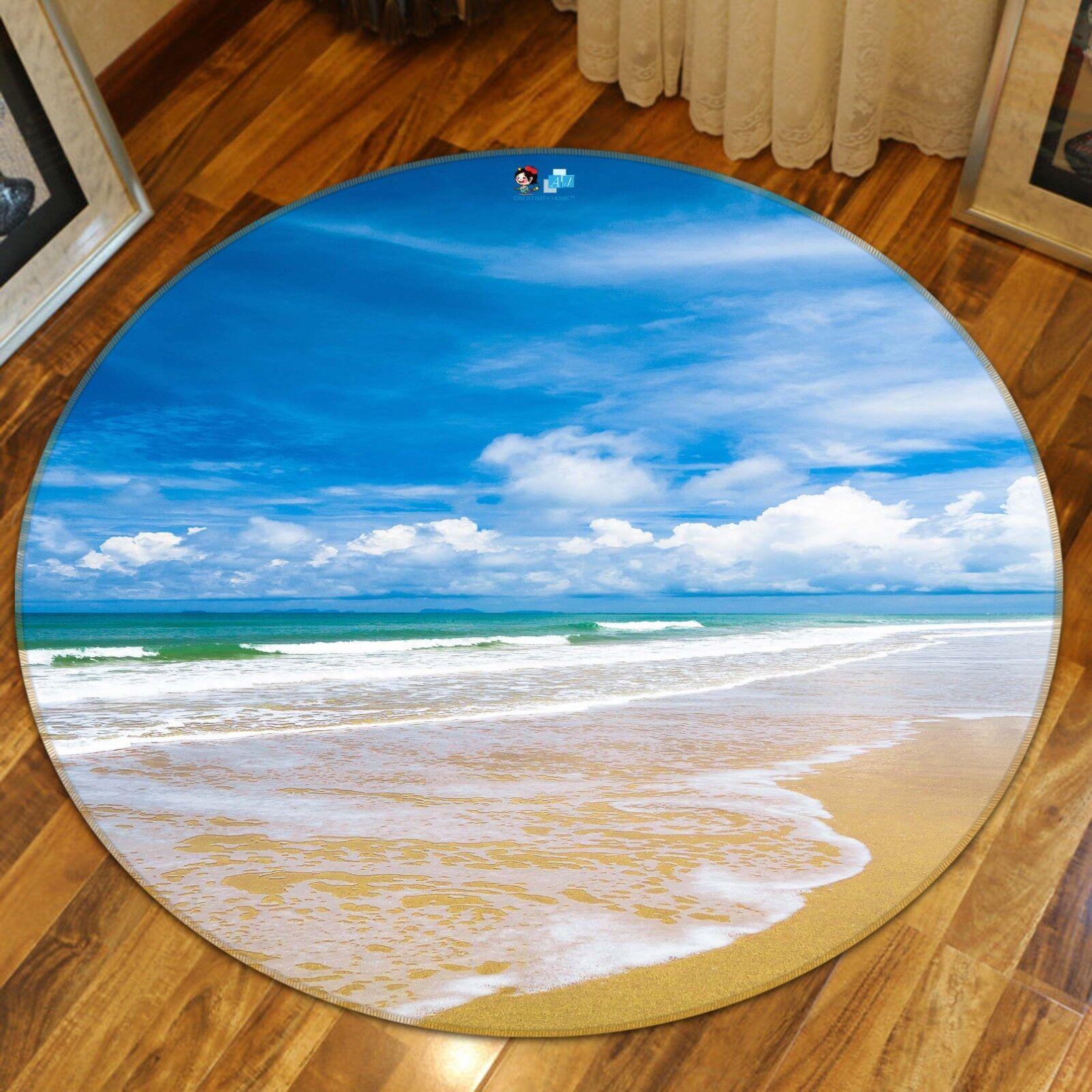3D Sea Beach 997 Non Slip Rug Mat Room Mat Round Quality Elegant Photo Carpet US