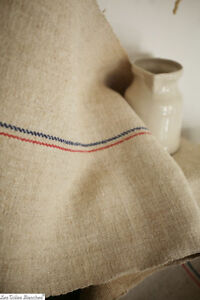 Feed & Flour Sacks Linens & Textiles (pre-1930) Antique European Hemp Grain Sack Pretty Red Green White And Blue Stripes