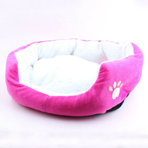 Fleece /& Velveteen Padded Pet Bolster Bed Kennel Crate Carrier Mat
