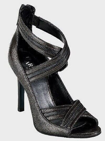 230 Cole Haan Shanley Back Zip Strap Dress Sandals shoes Womens Black 7.5
